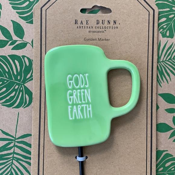 Rae Dunn Garden Marker GOD'S GREEN EARTH